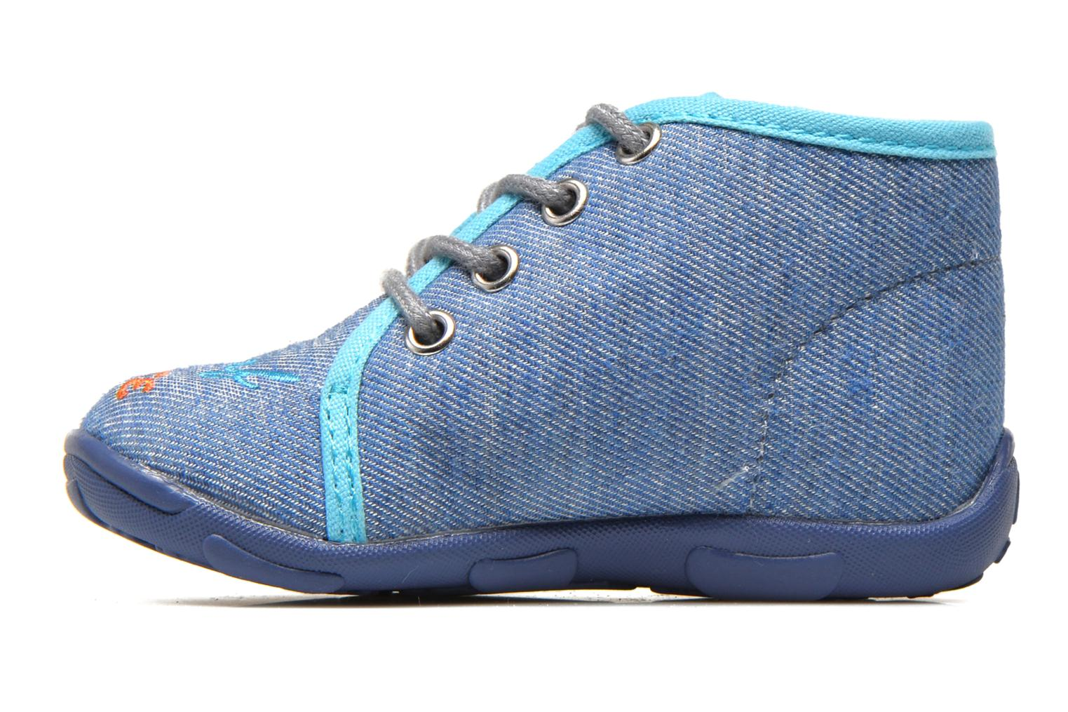 Slippers GBB Maxime Blue front view
