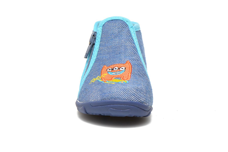 Chaussons GBB Meziane Bleu vue portées chaussures