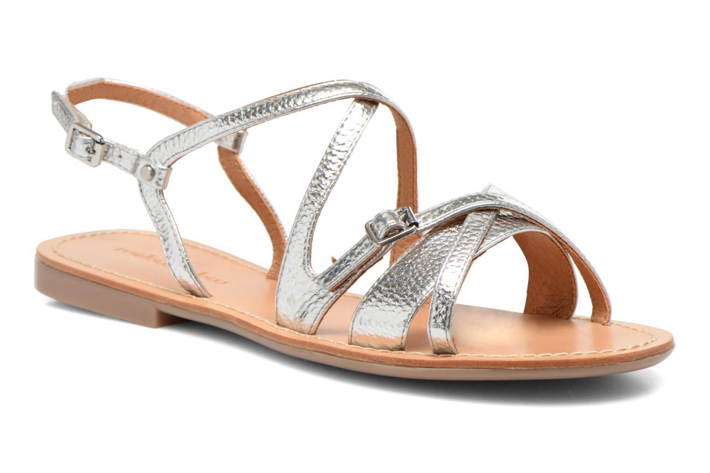 Sandales et nu-pieds Mellow Yellow Vanille Argent vue détail/paire