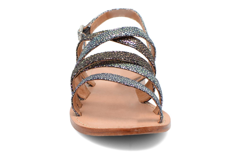 Sandales et nu-pieds Mellow Yellow Valoma Noir vue portées chaussures