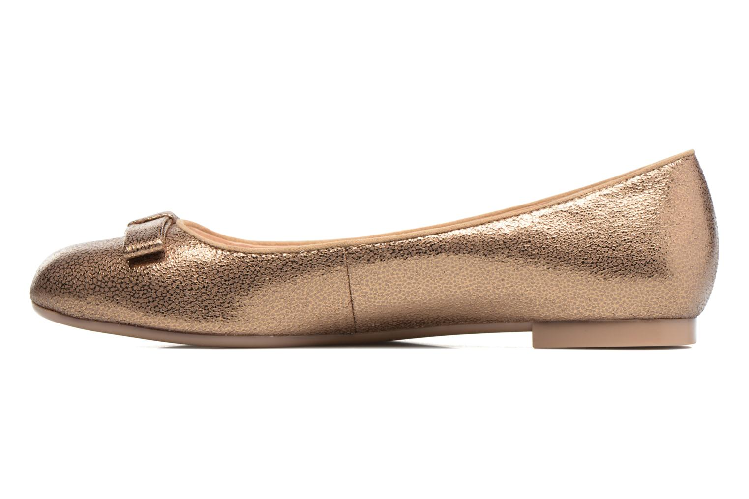 Ballet pumps Mellow Yellow Baless Bronze and Gold front view