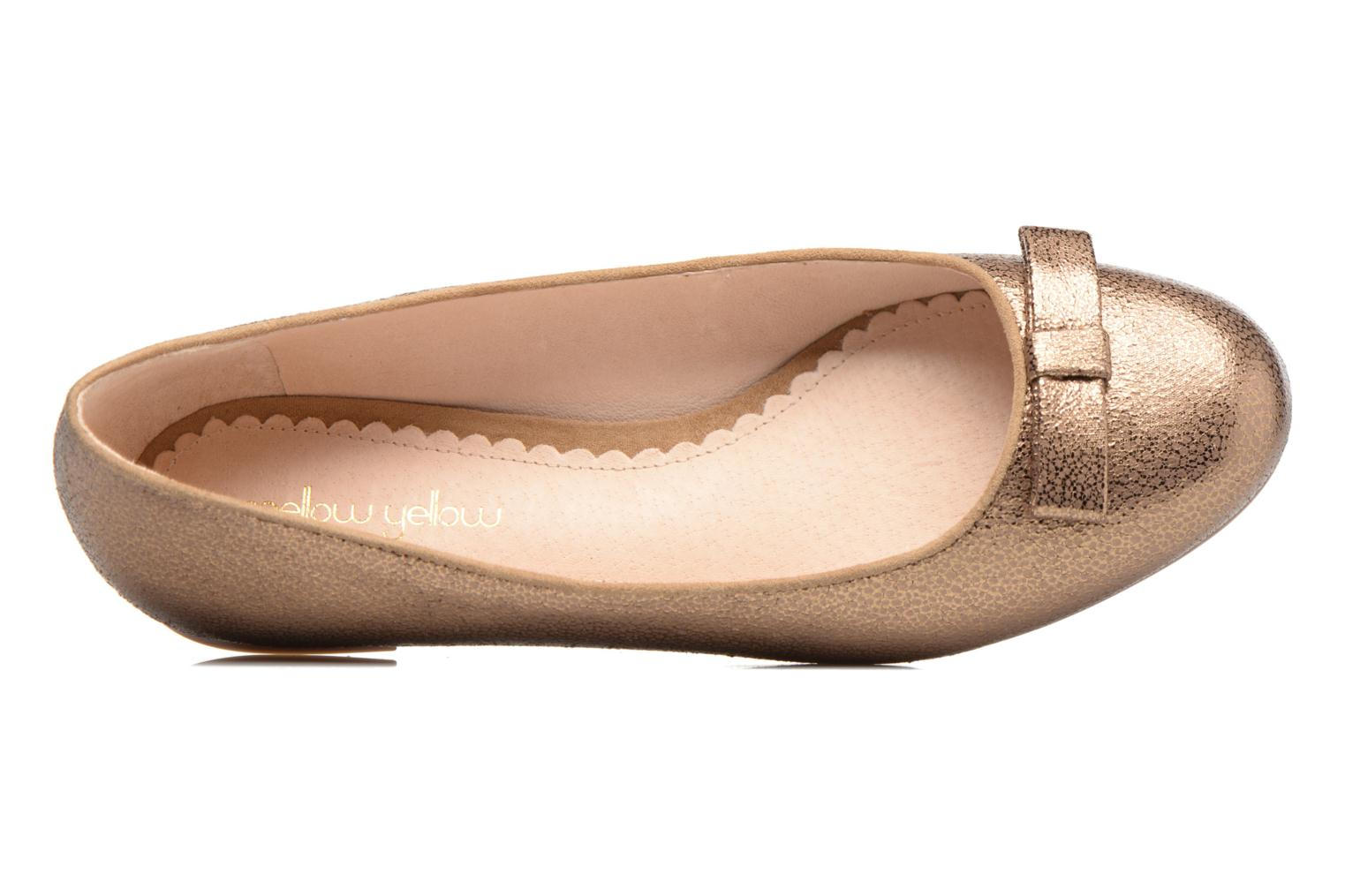 Ballet pumps Mellow Yellow Baless Bronze and Gold view from the left