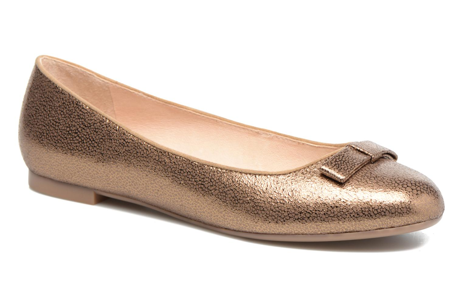 Ballet pumps Mellow Yellow Baless Bronze and Gold detailed view/ Pair view