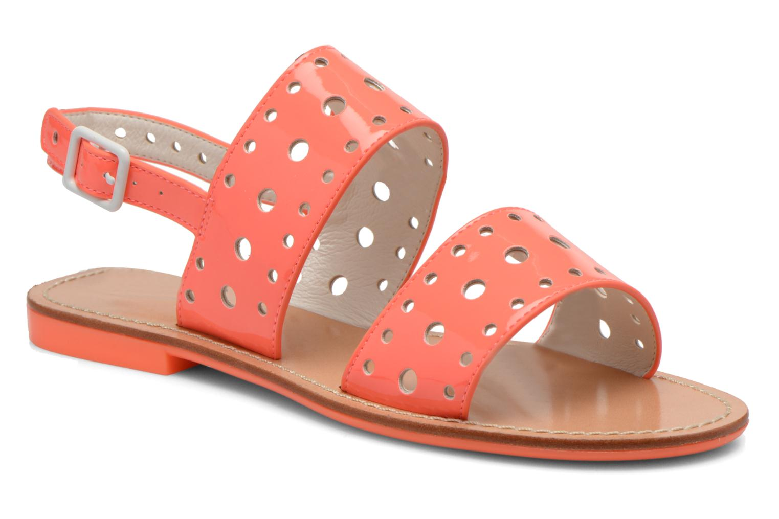 Sandals Mellow Yellow Vadina Orange detailed view/ Pair view