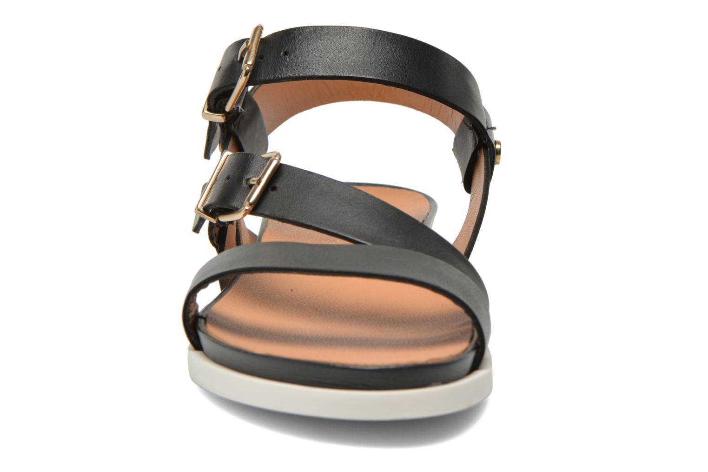 Sandales et nu-pieds Mellow Yellow Vindia Noir vue portées chaussures