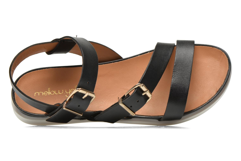 Sandales et nu-pieds Mellow Yellow Vindia Noir vue gauche