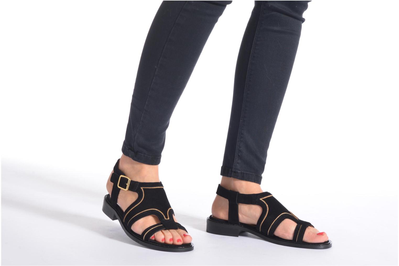 Sandales et nu-pieds Mellow Yellow Vilma Noir vue bas / vue portée sac