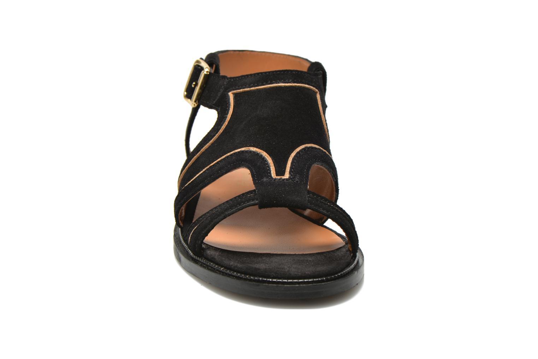 Sandales et nu-pieds Mellow Yellow Vilma Noir vue portées chaussures