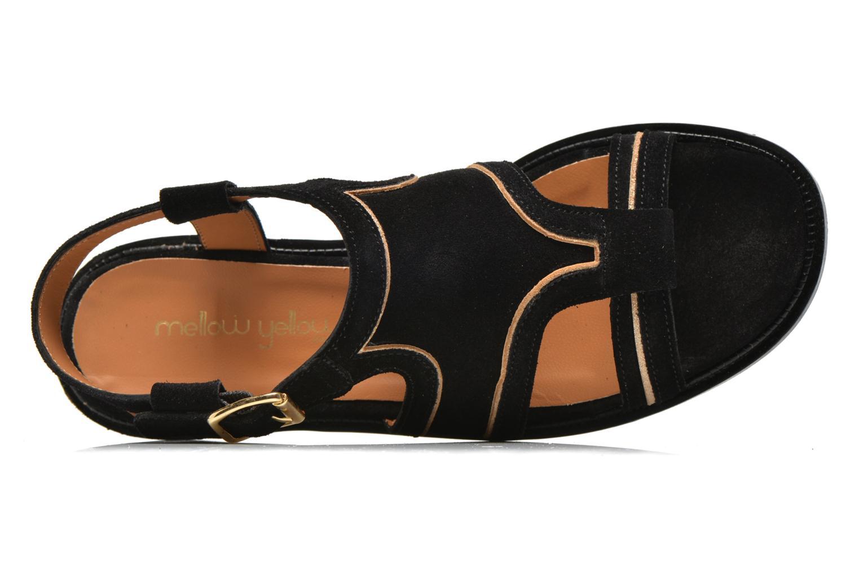 Sandales et nu-pieds Mellow Yellow Vilma Noir vue gauche