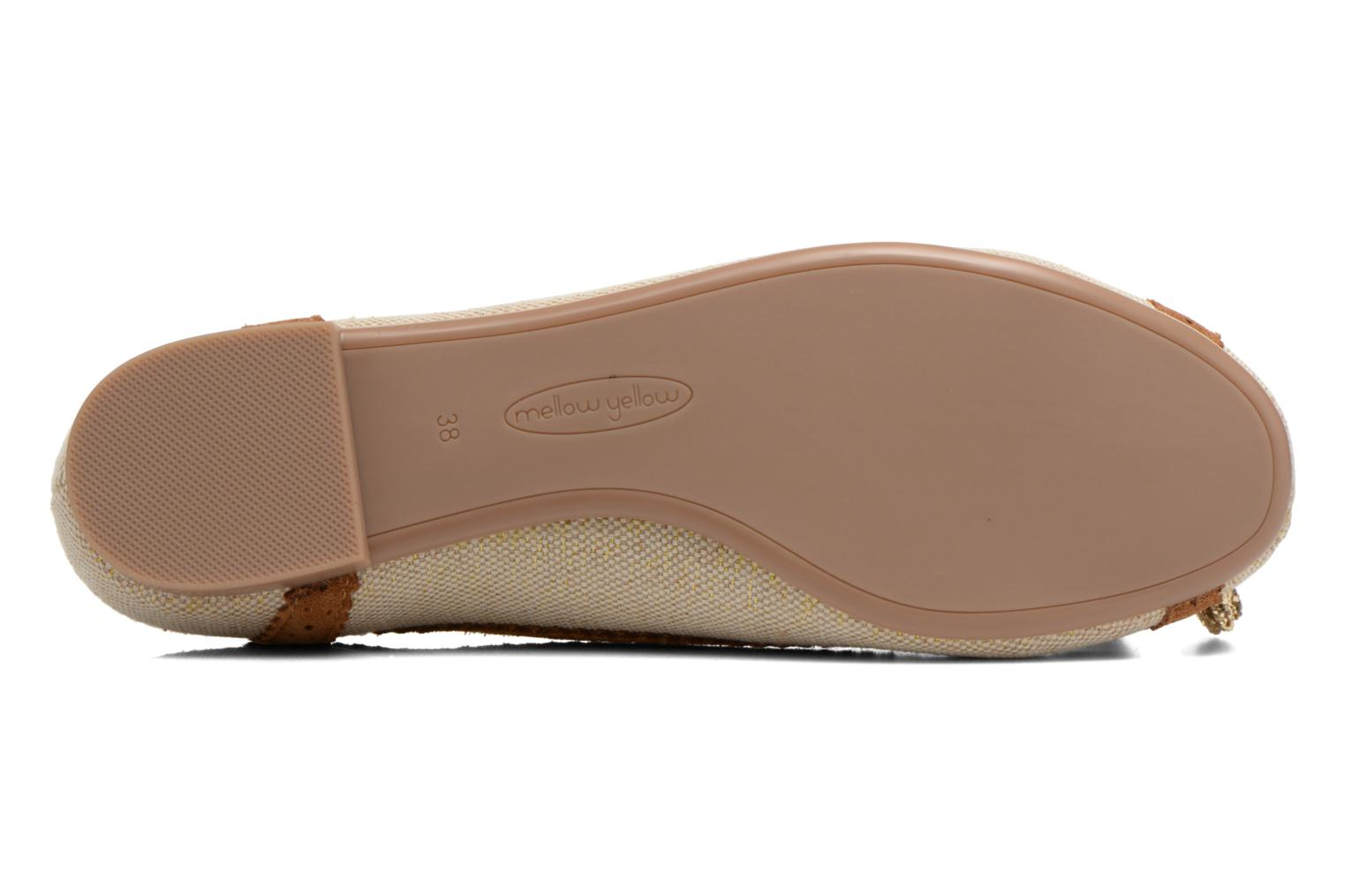 Ballet pumps Mellow Yellow Vagori Beige view from above