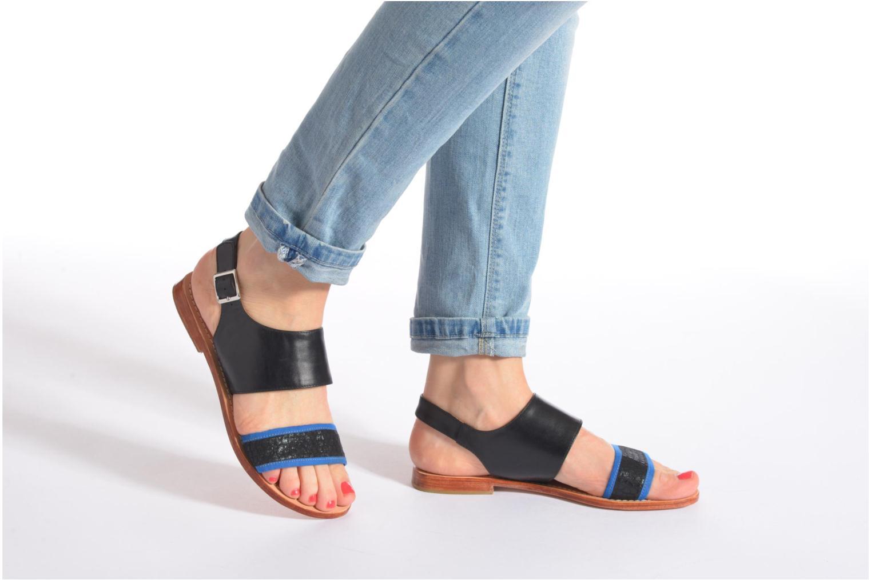 Sandales et nu-pieds Mellow Yellow Vadeli Noir vue bas / vue portée sac
