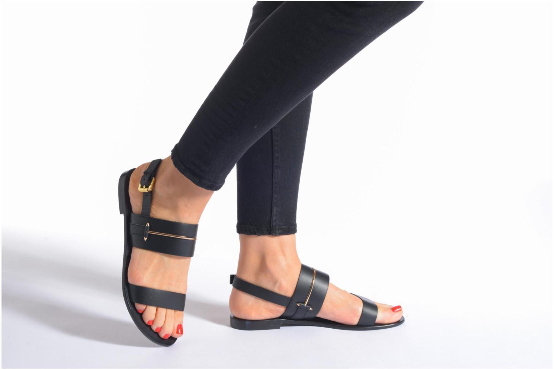 Sandales et nu-pieds COSMOPARIS Kadoa Noir vue bas / vue portée sac