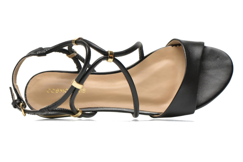 Sandals COSMOPARIS Clira Black view from the left