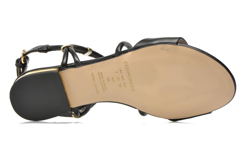 Sandales et nu-pieds COSMOPARIS Clira Noir vue haut