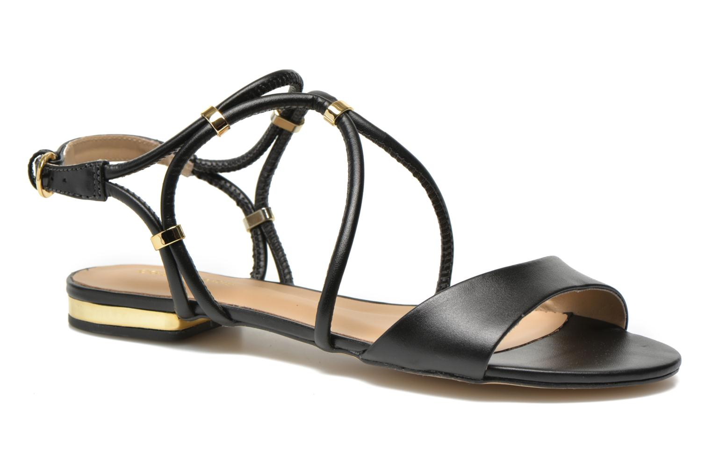 Sandals COSMOPARIS Clira Black detailed view/ Pair view