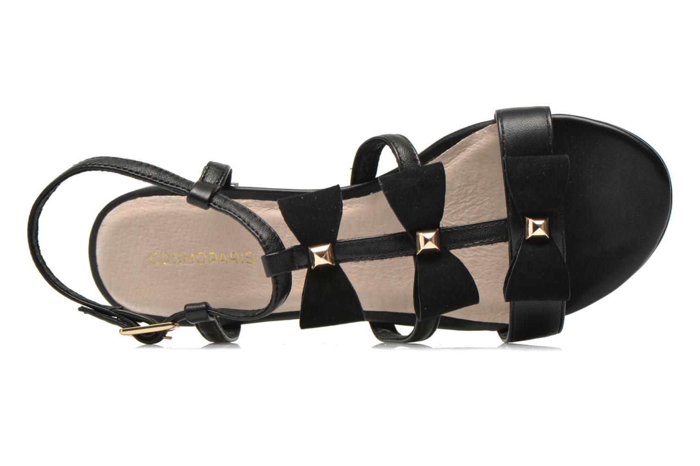 Sandales et nu-pieds COSMOPARIS Hilee Noir vue gauche