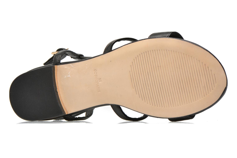 Sandales et nu-pieds COSMOPARIS Hilee Noir vue haut