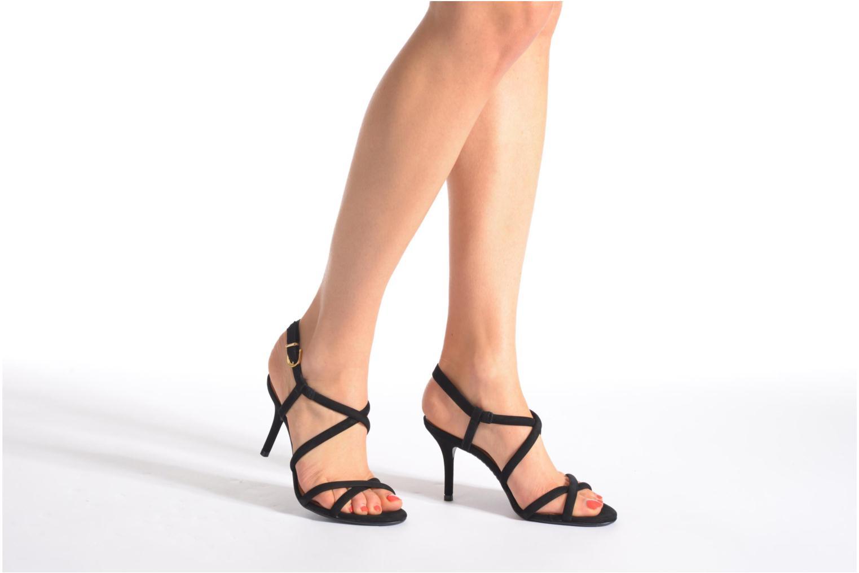 Sandales et nu-pieds COSMOPARIS Adalina/vel Noir vue bas / vue portée sac