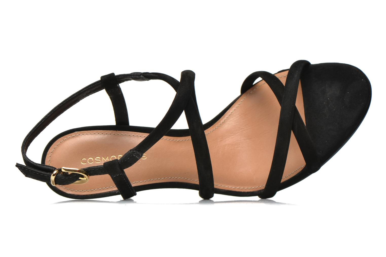 Sandales et nu-pieds COSMOPARIS Adalina/vel Noir vue gauche