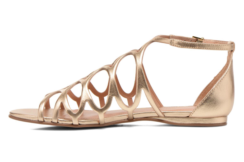 Sandales et nu-pieds COSMOPARIS Ariane Or et bronze vue face