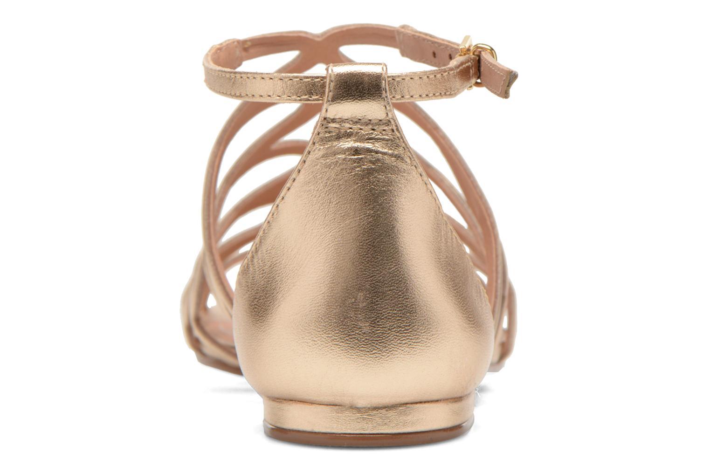 Sandales et nu-pieds COSMOPARIS Ariane Or et bronze vue droite