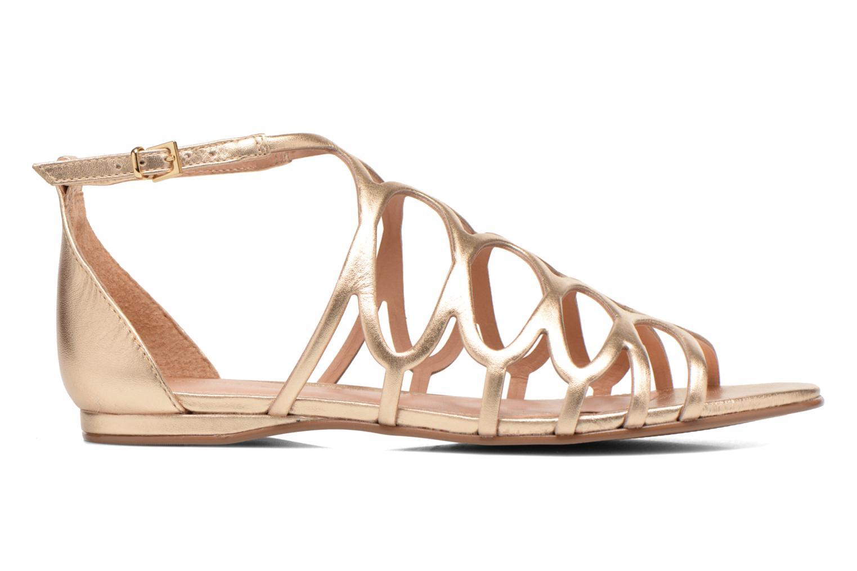 Sandales et nu-pieds COSMOPARIS Ariane Or et bronze vue derrière