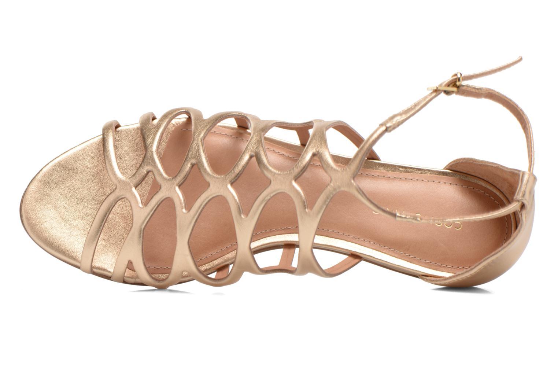 Sandales et nu-pieds COSMOPARIS Ariane Or et bronze vue gauche