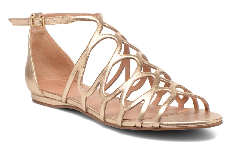 Sandales et nu-pieds COSMOPARIS Ariane Or et bronze vue détail/paire