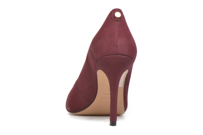 Zapatos de tacón COSMOPARIS Jelissa nub Vino vista lateral derecha