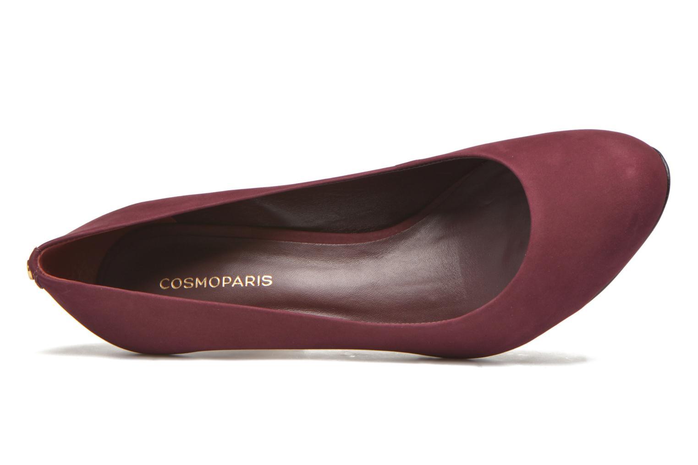 Zapatos de tacón COSMOPARIS Jelissa nub Vino vista lateral izquierda