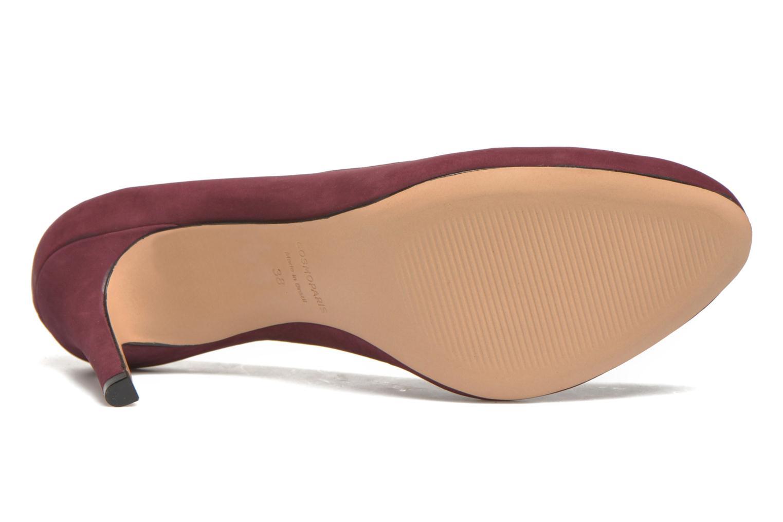 Zapatos de tacón COSMOPARIS Jelissa nub Vino vista de arriba