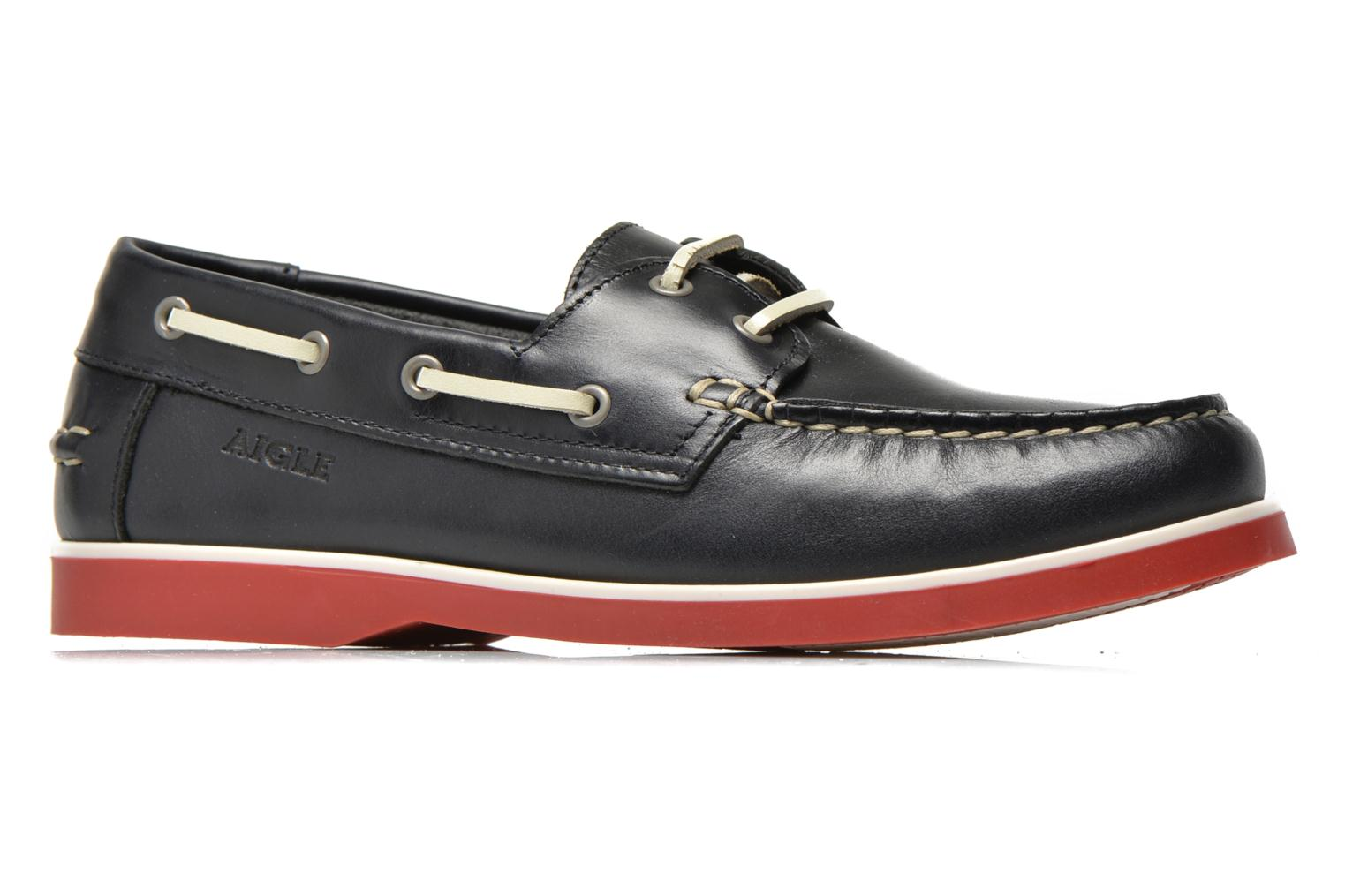 Lace-up shoes Aigle America Kid Blue back view