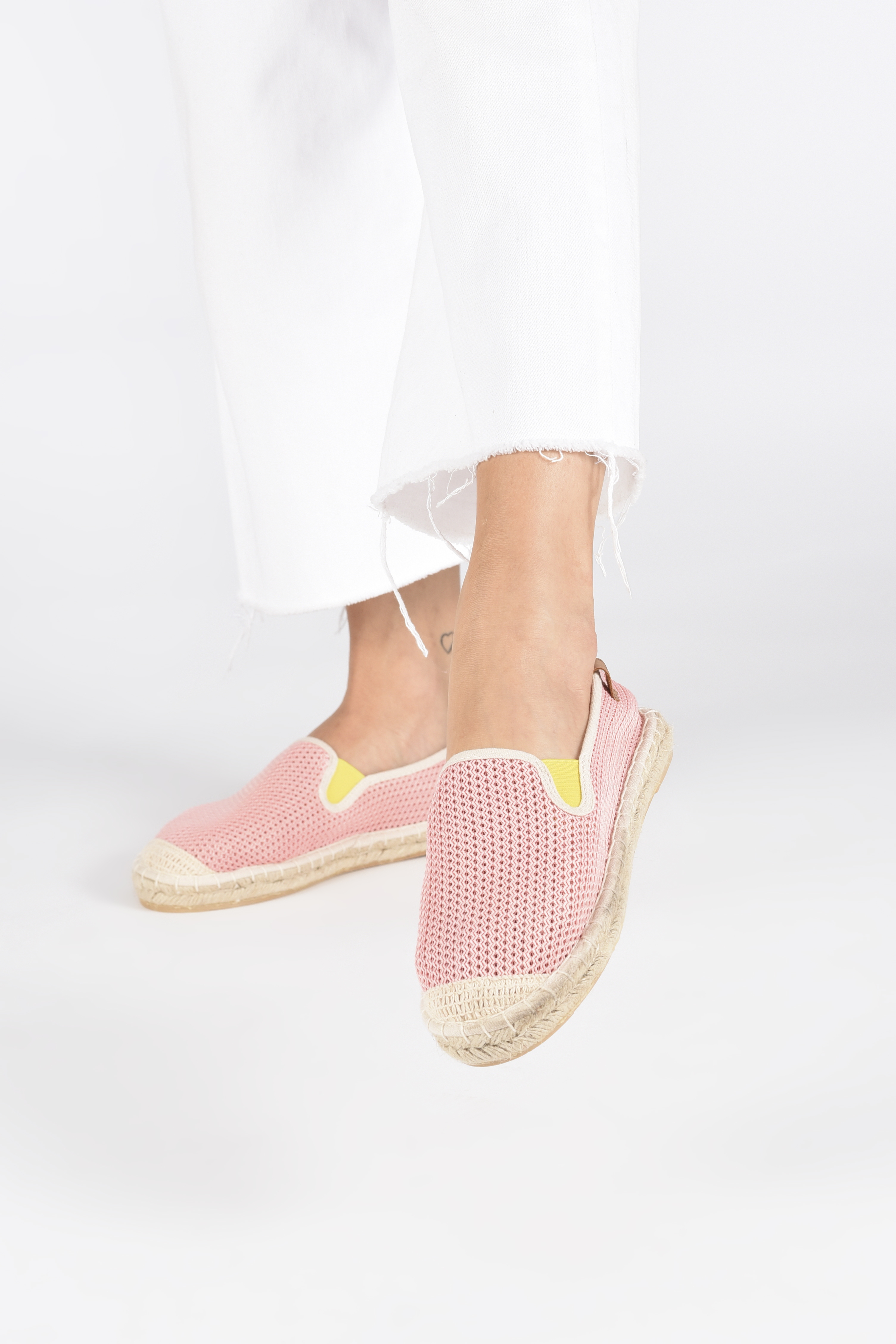 Espadrilles Coolway Jaipur Pink view from underneath / model view