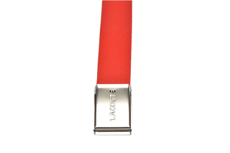 Cinturones Lacoste RC0012 Cinturón Rojo vista de frente