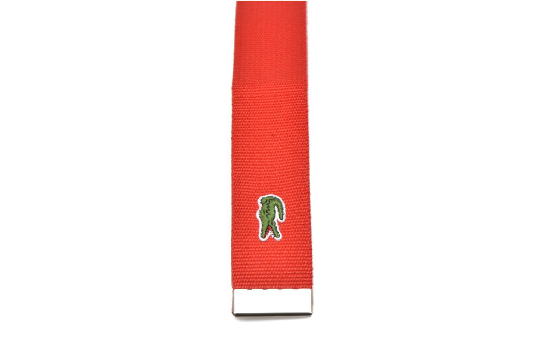 Cinturones Lacoste RC0012 Cinturón Rojo vista lateral derecha