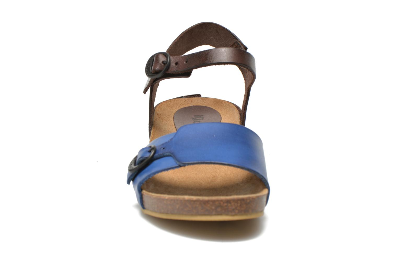 Sandales et nu-pieds Kickers Bombom Bleu vue portées chaussures