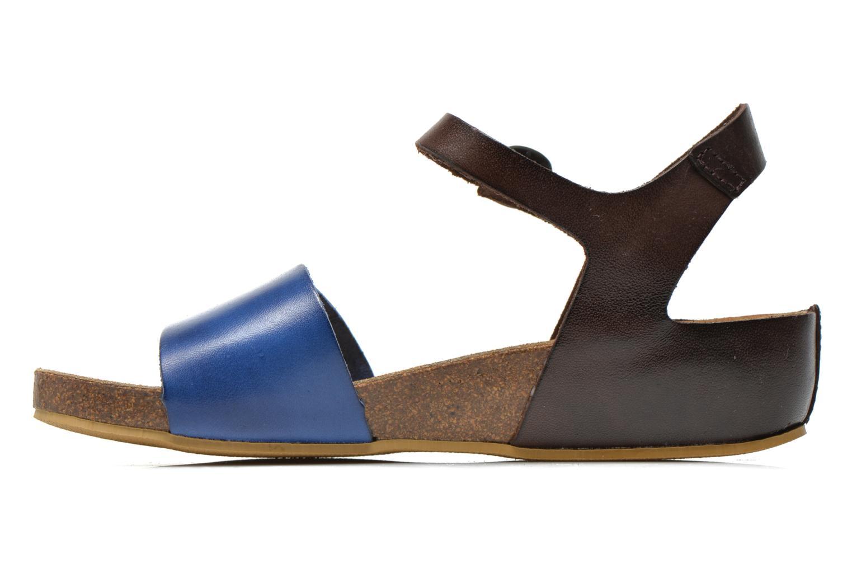 Sandales et nu-pieds Kickers Bombom Bleu vue face