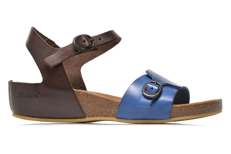 Sandales et nu-pieds Kickers Bombom Bleu vue derrière