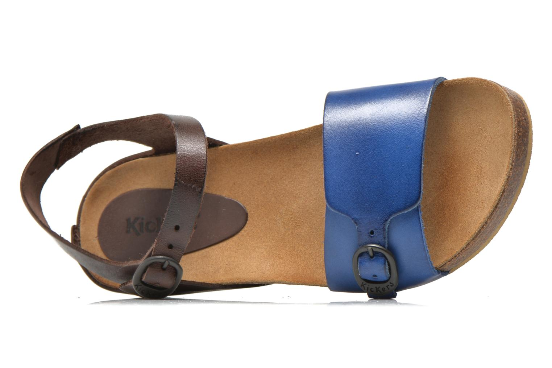 Sandales et nu-pieds Kickers Bombom Bleu vue gauche