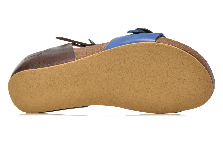 Sandales et nu-pieds Kickers Bombom Bleu vue haut