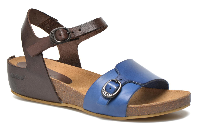 Sandales et nu-pieds Kickers Bombom Bleu vue détail/paire
