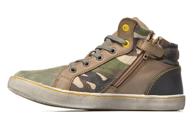 Sneakers Kickers Lynx Grøn se forfra