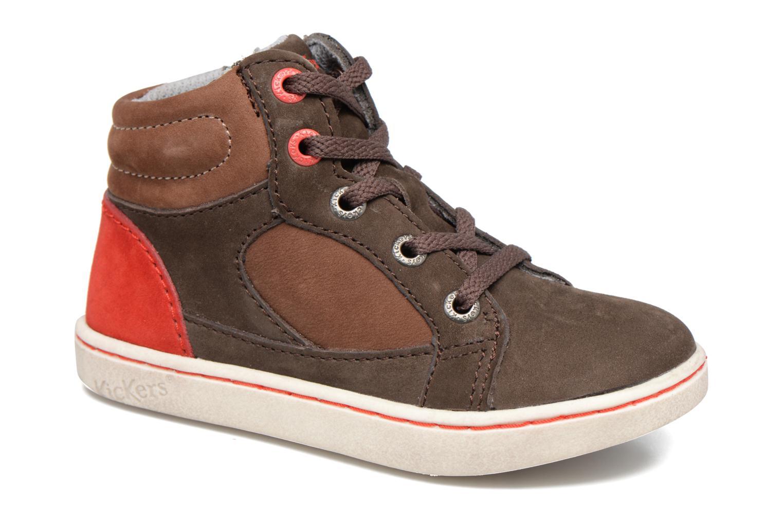 Sneakers Kickers Lynx Brun detaljeret billede af skoene