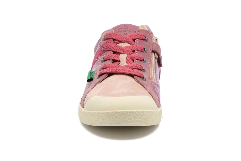 Baskets Kickers Trankilou Rose vue portées chaussures