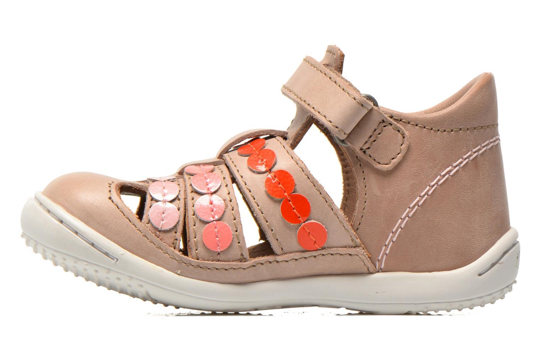 Sandales et nu-pieds Kickers Gift Kids Beige vue face