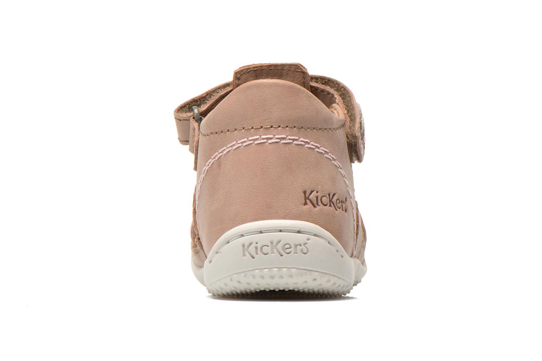 Sandalias Kickers Gift Kids Beige vista lateral derecha