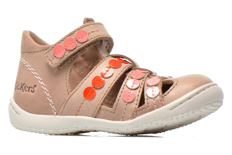 Sandales et nu-pieds Kickers Gift Kids Beige vue derrière