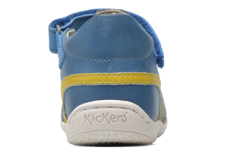 Sandalias Kickers Glups Azul vista lateral derecha
