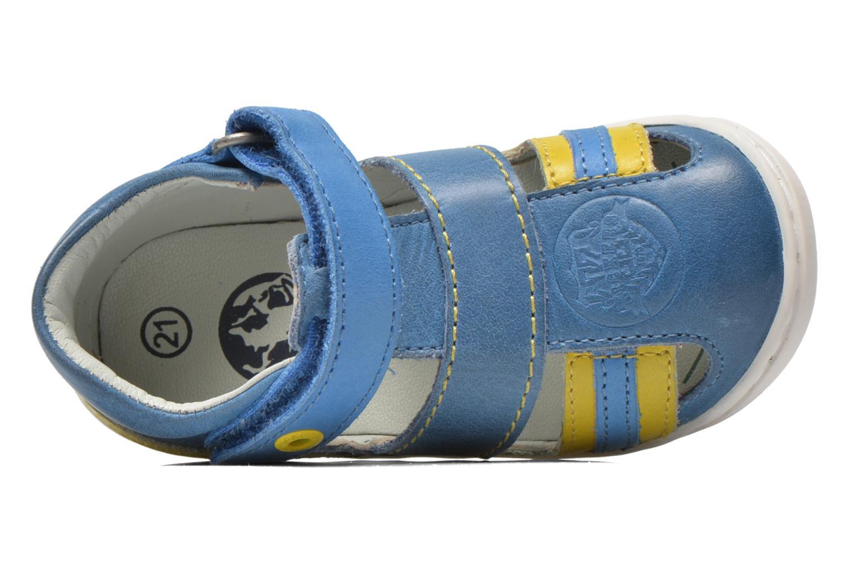 Sandalias Kickers Glups Azul vista lateral izquierda