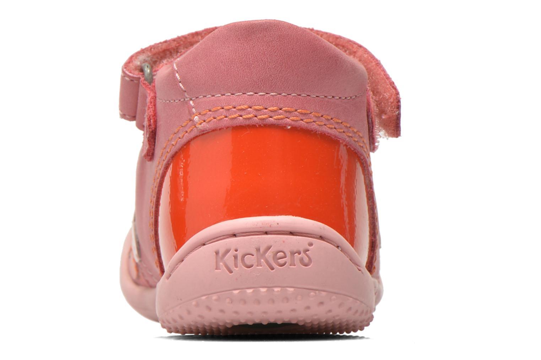 Bailarinas Kickers Girly Rosa vista lateral derecha